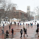 2013 A winter day on the Diag.