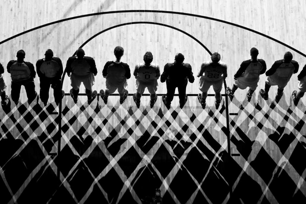 U-M Men's Basketball. Photo at Crisler Arena by Eric Bronson