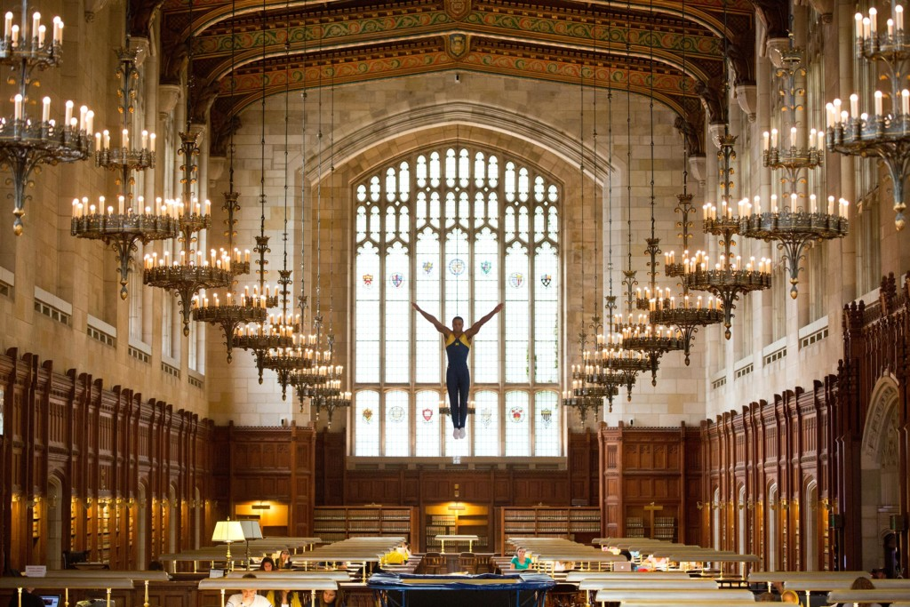 U-M PSA. Photo in Law School Reading Room by Scott C. Soderberg