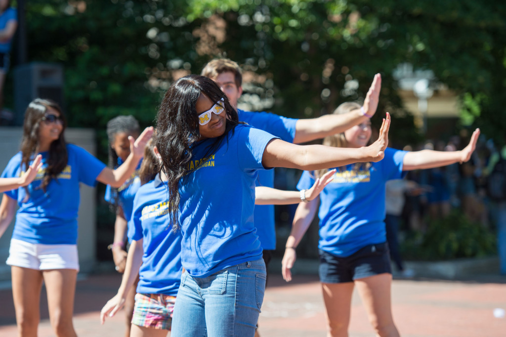 Student Organizations hold their annual sign up at Festifall. Photo on the Diag by Scott C. Soderberg